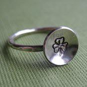 """Luck"" Shamrock Ring"