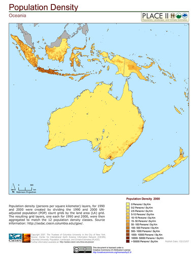 Oceania: Population Density | Flickr - Photo Sharing!