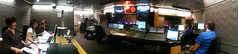 In the Radio Theatre control room, during transmission (Steve Bowbrick) Tags: panorama london booth comedy live pano bbc broadcastinghouse controlroom iphone radiotheatre markwatson