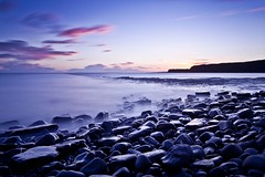 Kimmeridge Tranquility (RyanCrockerPhotography) Tags: ocean sunset sea england seascape west castle beach church canon landscape bay coast sand long exposure angle south country wide jungle dorset corfe isle swanage 70200 jurassic 1740 purbeck kimmeridge knowle 5dmkii