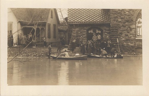 Rescue Boats, Dayton, OH - 1913 Flood