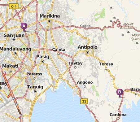 Rizal Philippines Map.Aeinosante Travel Morong Rizal Philippines