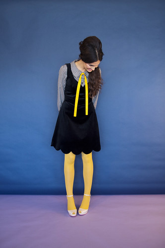 8 breathless pinafore black