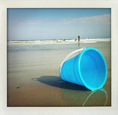 beach gear (mennyj) Tags: ocean blue vacation sky beach kids toys bucket sand waves florida 4 rally roadtrip scooter atlantic cocoa pail iphone 2011 shakeitphoto