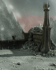 Mordor (Mtys Gbor) Tags: miniature model lordoftherings mordor blackgate morannon