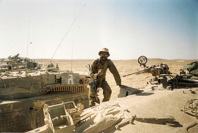 On Merkava Battletank, Sayereem Military Base, Israel, 2001