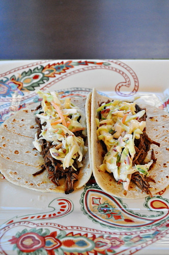 Southwestern Brisket Tacos with Chipotle Slaw