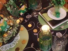 P1011720 (dining delight) Tags: irish black green kitchen beer candle ivy stpatricksday leprechaun potofgold sharmrock