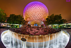 Walt Disney World - Spaceship Earth (Tom.Bricker) Tags: orlando epcot nikon technology florida disneyland disney fisheye disneyworld mickeymouse learning knowledge pavilion wdw waltdisneyworld epcotcenter informative waltdisney worldshowcase futureworld d90 disneypictures nikond90 disneyphotos d7000 disneyphotography wdwfigment tombricker 21stcenturybeganin1982 nikond7000 disneyfisheye