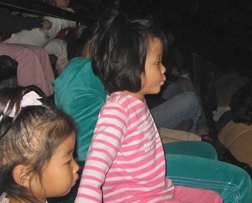 Lyric and Cokie watching circus