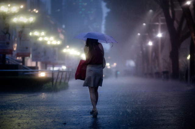 Night Rain Photograph by Danny Santos