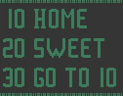 home sweet monochomatic (nichestitch) Tags: green shop computer code crossstitch pattern handmade monochromatic pdf etsy homesweethome basic geeky geekery
