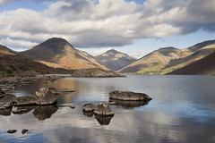 Wast Water (Nick Landells) Tags: mountain lake mountains water landscape lakes lakedistrict fells scafellpike lakeland fell wastwater wasdale greatgable mountainous lingmell yewbarrow visipix