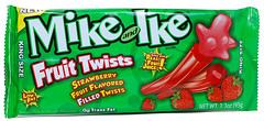 Mike and Ike Fruit Twists Strawberry