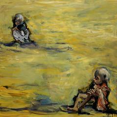 Jorge Rando África óleo sobre tabla   121x121 cm 1978 (arteneoexpresionista) Tags: rando jorge áfrica