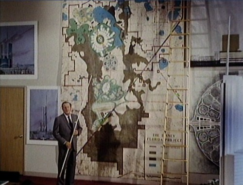 Walt Disney with EPCOT map
