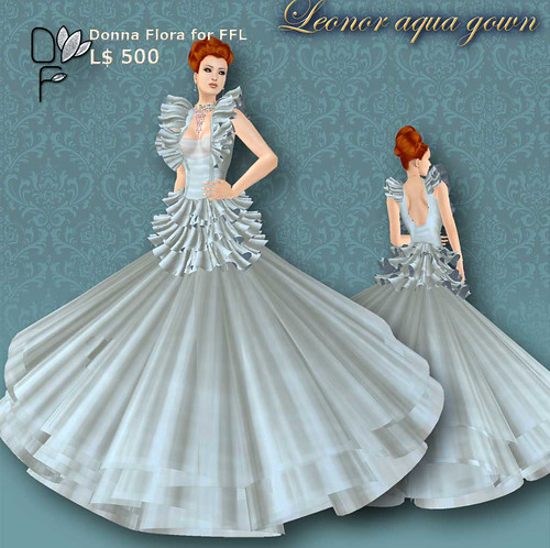 LEONOR aqua-gown
