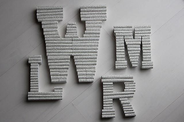 Book Page Letters