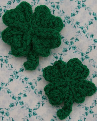 Make your own luck big luck and little luck shamrock 4 leaf clover
