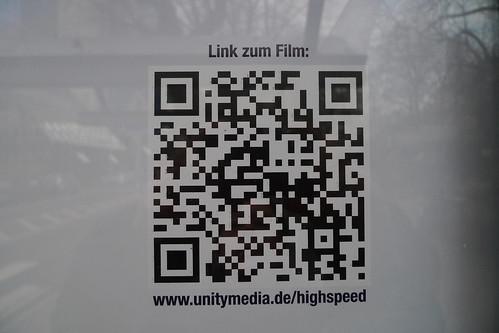 QR Code an einem Plakat von Unitymedia