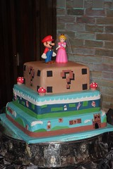 "Super Mario Brothers grooms cake • <a style=""font-size:0.8em;"" href=""http://www.flickr.com/photos/60584691@N02/5524769257/"" target=""_blank"">View on Flickr</a>"