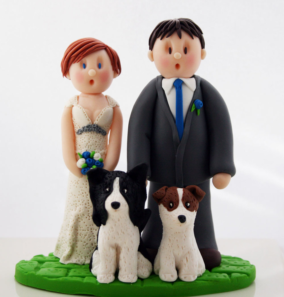 Staffy Cake Topper
