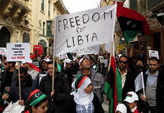 Freedom for Libya (Haanee Naeem) Tags: freedom malta libya protests protesters valletta silentprotest