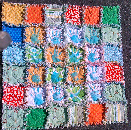 Preschool Fundraising Rag Quilt by Julie Antinucci