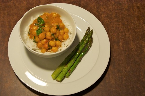 Thai chickpeas with basmati rice