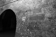 Blisworth Tunnel Entrance, Grand Union Canal (Tanyaluk Photography) Tags: england bw canal sony bricks northamptonshire tunnel a200 northants brickwork grandunioncanal waterways stokebruerne grandunion britishwaterways blisworth canaltunnel blisworthtunnel eastmidlandsregion mygearandme