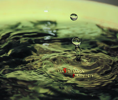Drop of water  (She5 Al Shbab ) Tags: water al first drop photograph try    3bood  she5 shbab 3bady