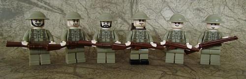 Custom minifig Small British Squad custom minifigures