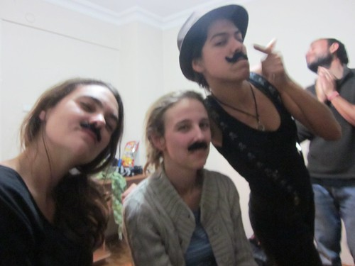 Moustache pre-party