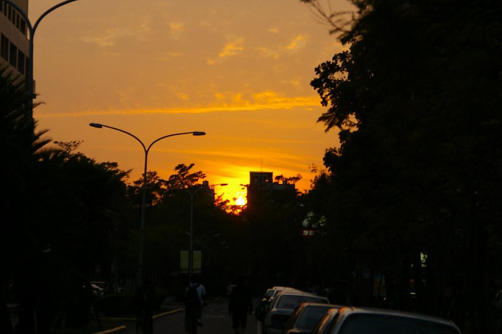 春日的夕陽