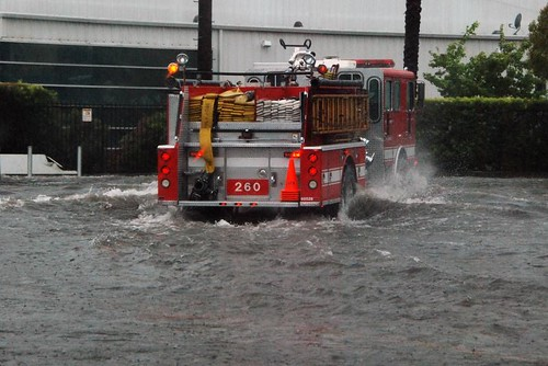 LAFD Assists Motorists Stranded by Floodwater