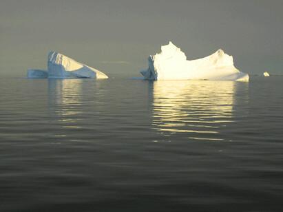 Isfjell i ettermiddagssol foto:Anne C. Silviken