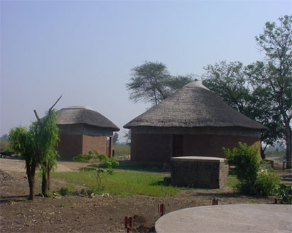 Some of the structures at Tisunge! Heritage Centre. Picture by George Jawali, August 2007.