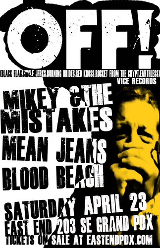 4/23/11 OFF!/MikeyAndTheMistakes/MeanJeans/BloodBeach