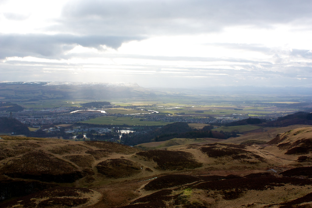 Towards the Carske and the Campsie Fells