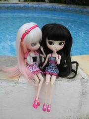 As Fifis... (parte 2) ( Angel in Wonderland ) Tags: pink white branco aya doll ebay g rosa wig pullip sb emilly obitsu 27cm