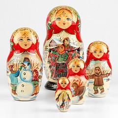 Russian Winter Fiesta Nesting Doll (The Russian Store) Tags: matrioshka matryoshka russiannestingdolls  stackingdoll  russianstore  russiangifts  russiancollectibledolls shoprussian
