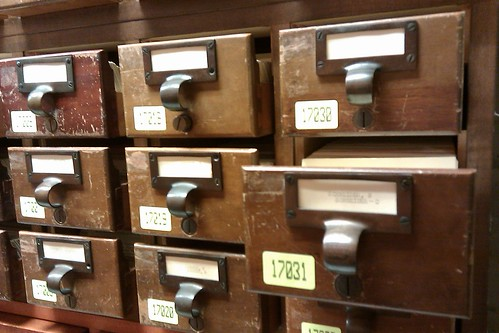Old card catalog at the Library of Congress