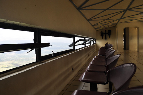 Viewing deck inside the cross at Shrine of Valor (Bataan)
