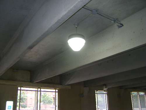 Induction Fixture in Parking Garage