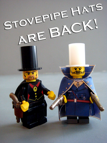 Custom minifig Stovepipe hats are BACK!