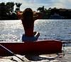 red kayak (Laurarama) Tags: selfportrait silhouette nikon kayak kayaking hobbies summervacation lazysunday redkayak 18105mm d7000 ourdailychallenge