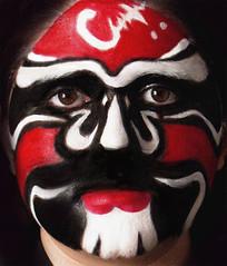 Japanese Opera Mask (Kmontfx) Tags: school face tom effects japanese education opera paint theater artist mask makeup center dec special krista montgomery douglas savini mehron kmontfx