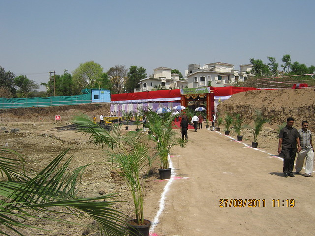 Bhoomi Poojan of DSK Gandhakosh Baner Pune - at the excavated  site!