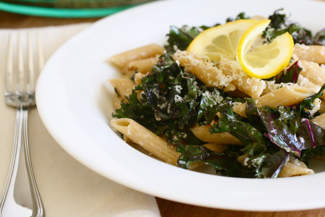 Lemony Kale Pasta