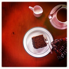Hipstamatic 201-Gluten-Free Chocolate Chiffon Cake Slice and Coffee